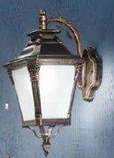 Настенный уличный светильник Orion AL 11-1138/1 Patina/abwärts